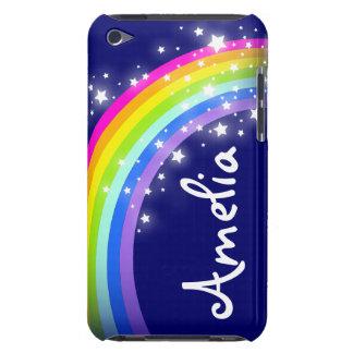 Named rainbow on navy ipod case
