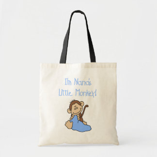 Nana's Little Monkey - Blue Tshirts and Gifts Budget Tote Bag