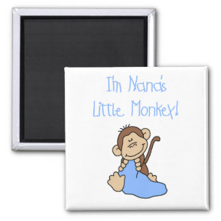 Nana's Little Monkey - Blue Tshirts and Gifts Square Magnet