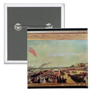 Napoleon III  Welcoming Queen Victoria 15 Cm Square Badge