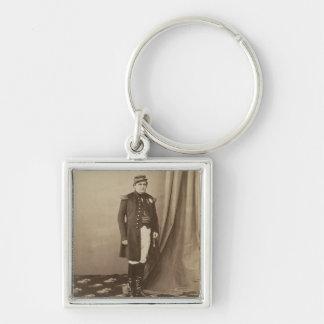 Napoleon-Joseph-Charles-Paul (1822-91) Prince Napo Silver-Colored Square Key Ring