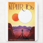 NASA Travel Poster - Relax on Kepler 16b Mouse Pad