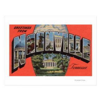 Nashville, Tennessee - Large Letter Scenes 2 Postcard