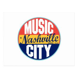 Nashville Vintage Label Postcard