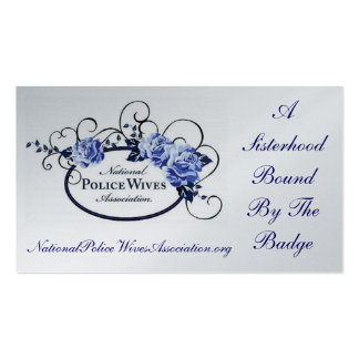 National Police Wives Association Referral Card Pack Of Standard Business Cards