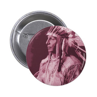 Native American Indian 6 Cm Round Badge