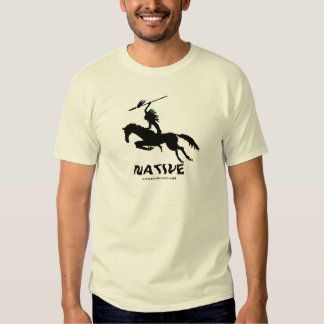 Native American Indian on horse ink pen drawing Tees