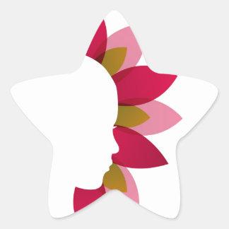 Natural Beauty Star Sticker