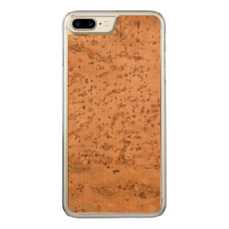 Natural Cork Look Wood Grain Carved iPhone 7 Plus Case