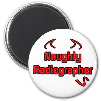 Naughty Radiographer 6 Cm Round Magnet