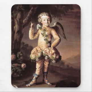 Naughty Vintage Cupid Pointing His Finger Mouse Pad