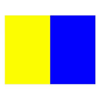 Nautical Alphabet Flag Signal Letter K Postcard