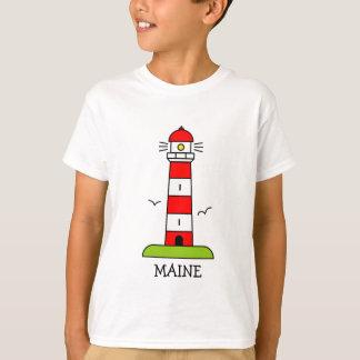 Nautical kids clothing   Maine lighthouse cartoon Tshirt