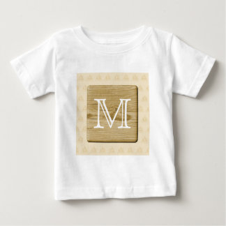Nautical Monogram Design, with Picture of Wood. Tshirt