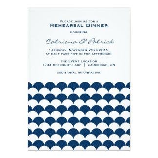 Nautical Waves Pattern Rehearsal Dinner Invitation