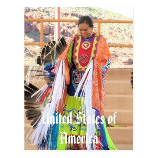 Navajo North American Indian dress postcard