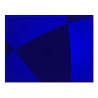 Navy and Blue Digital Minimalism Art Postcard