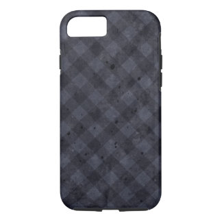 Navy Blue Checkered Flannel iPhone 7 Case