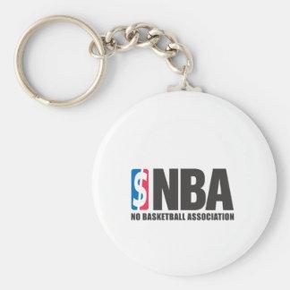 NBA BASIC ROUND BUTTON KEY RING