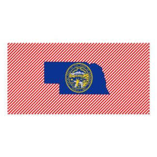 Nebraska Flag Map Picture Card