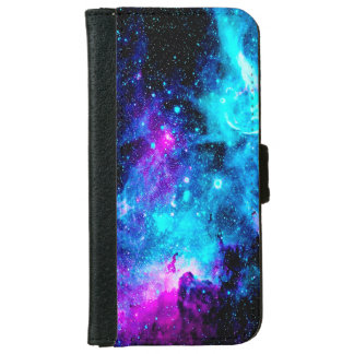 Nebula Galaxy Stars Girly iPhone 6 Wallet Case