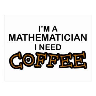 Need Coffee - Mathematician Postcard