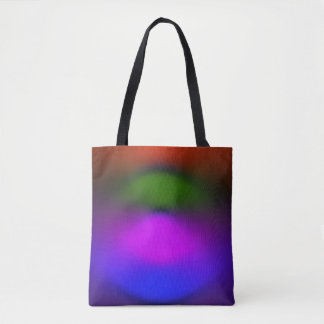 Neon Blue, Purple, Green, Orange All-Over-Print Tote Bag