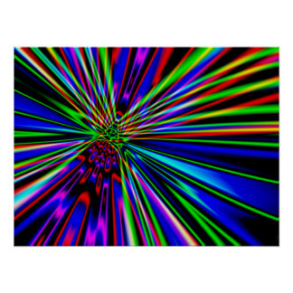 Neon Explosion Poster