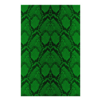 Neon Green and Black Snake Skin Reptile Scales 14 Cm X 21.5 Cm Flyer