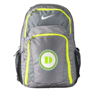 Neon Green Scalloped Custom Monogram Backpack