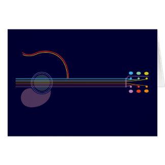 Neon Guitar Greeting Card