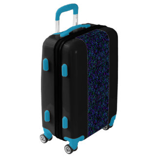 Neon purple, blue, green and black 4745 luggage