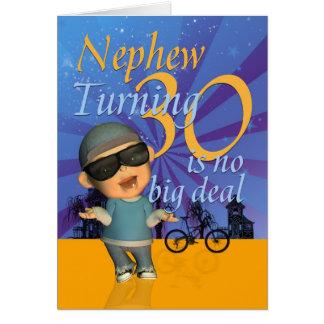 Nephew - 30th Birthday Card Cute Dude