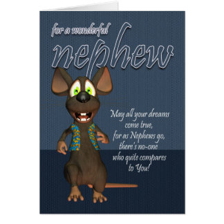 Nephew Birthday Card - With Funky Mouse