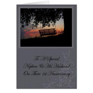 Nephew & His Husband 1st Anniversary Card
