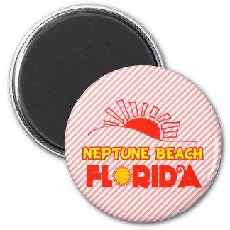 Neptune Beach, Florida 6 Cm Round Magnet