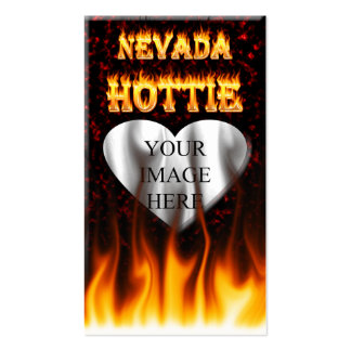 Nevada Hottie fire and red marble heart Pack Of Standard Business Cards