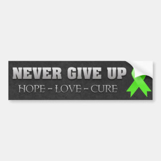 Never Give Up Hope Non-Hodgkins Lymphoma Bumper Sticker