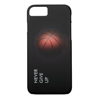 """""""NEVER GIVE UP"""" iPhone 7 CASE"""