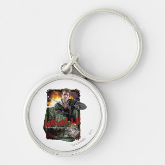 Neville Longbottom Collage 2 Silver-Colored Round Key Ring