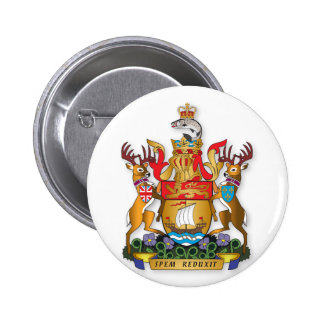 New Brunswick coat of arms 6 Cm Round Badge