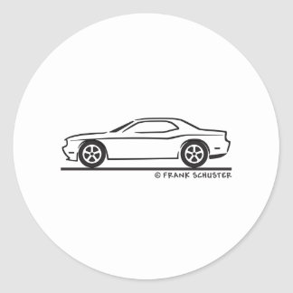 New Dodge Charger Round Sticker