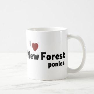 New Forest ponies Basic White Mug