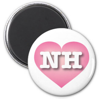 New Hampshire pink fade heart - Big Love 6 Cm Round Magnet