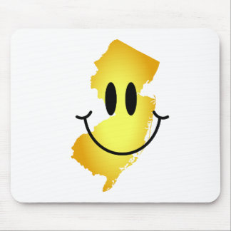 New Jersey Smiley Face Mouse Pad