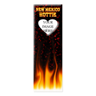 New Mexico Hottie fire and red marble heart Pack Of Skinny Business Cards