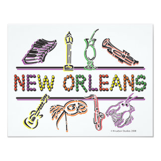 New-Orleans-ICONS- copy 11 Cm X 14 Cm Invitation Card