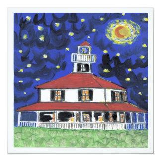 New Orleans Lighthouse Lakefront 13 Cm X 13 Cm Square Invitation Card