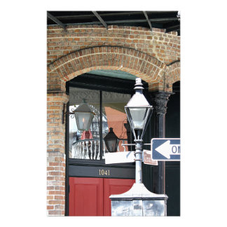 New Orleans Street Scene Personalized Stationery