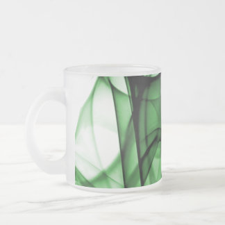 New Rainbow Waves Collection - Green Wave Frosted Glass Mug
